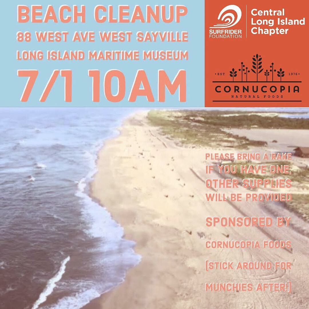 Beach Cleanup, Sunday, July 1st at 10am