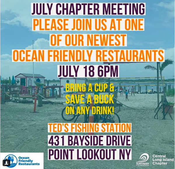 Monthly Chapter Meeting: Wednesday, July 18th @ Ted's Fishing Station