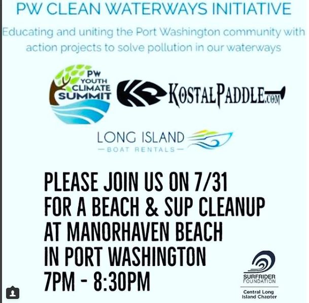 Beach Cleanup at Manorhaven Beach, Port Washington: July 31st at 7pm