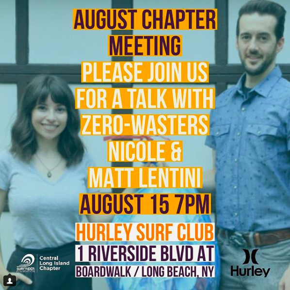 August Chapter Meeting: August 15th, 7pm @ Hurley Surf Club