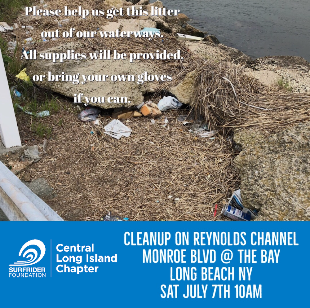 Cleanup on Reynolds Channel, Saturday, July 7th