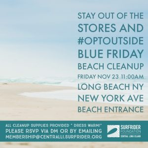 Blue Friday Beach Cleanup!