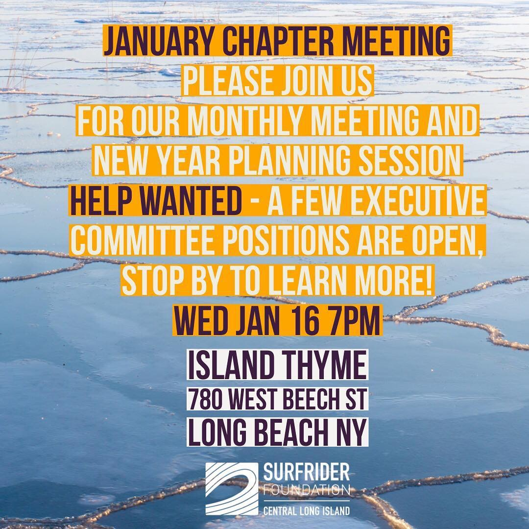 January Monthly Chapter Meeting
