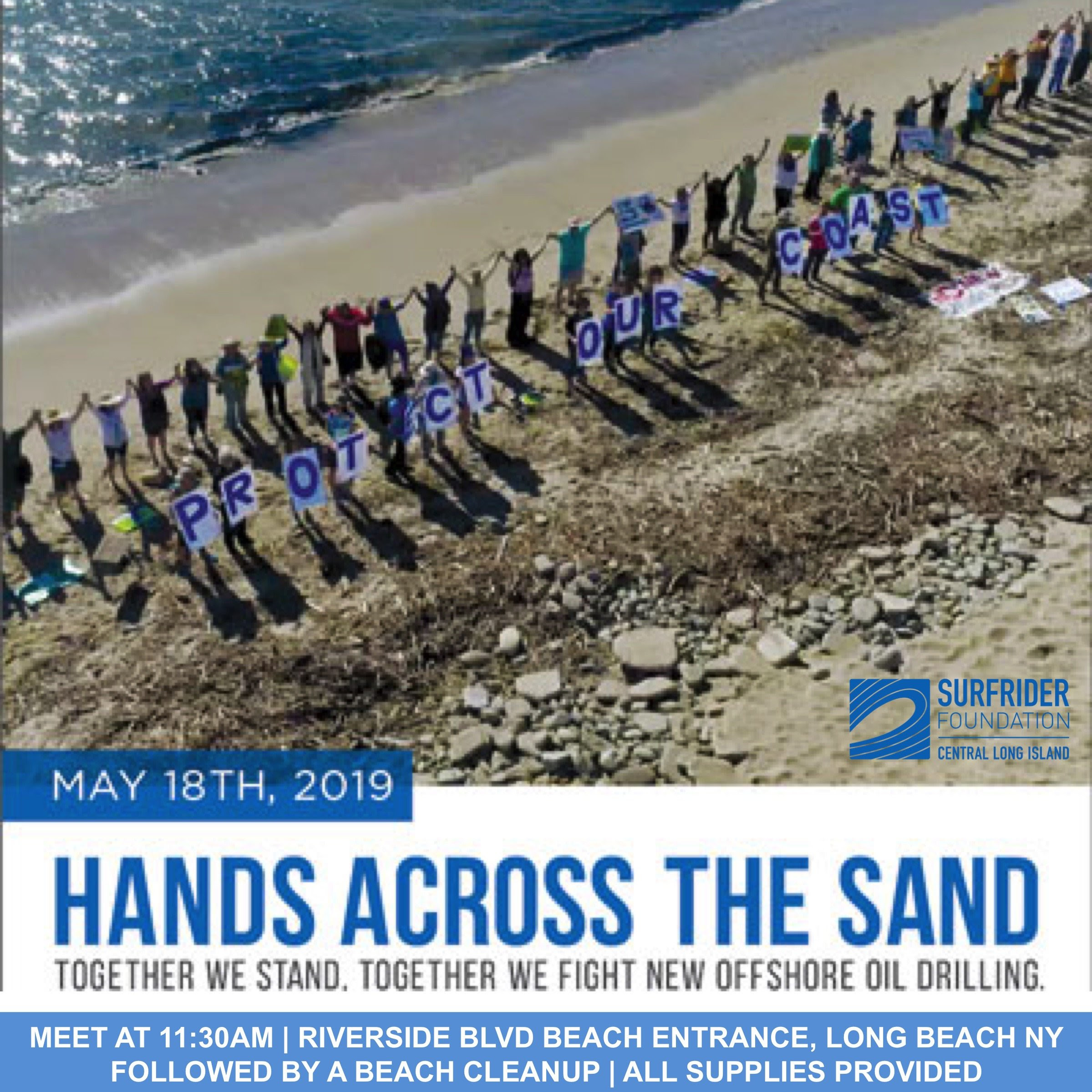Hands Acroos the Sand & Beach Cleanup