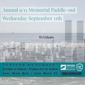 Annual 9/11 Memorial Paddle-out