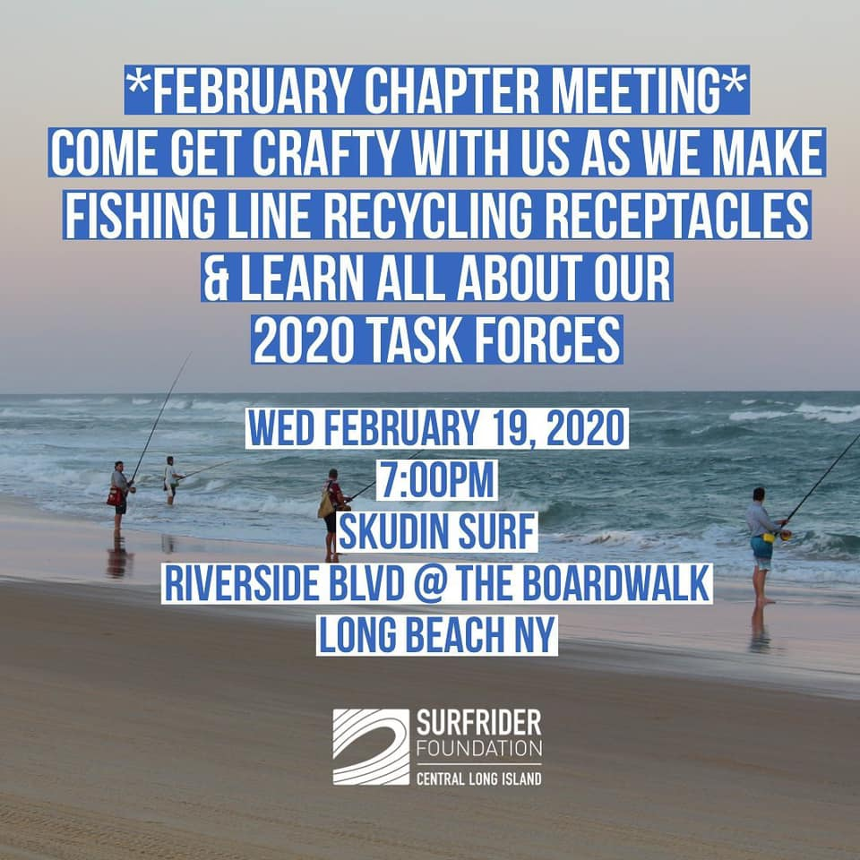 February Monthly Chapter Meeting at Skudin Surf Shack!