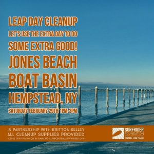 Leap Day Beach Cleanup at Jones Beach Boat Basin!